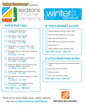 19 Tips to Maintain Your Home This Winter Season