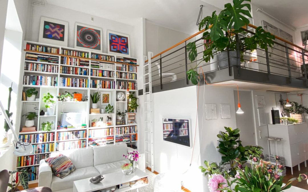 This Norway Home Has 1,000+ Books, 100+ Plants, and 1 Very Cool Lofted Bedroom