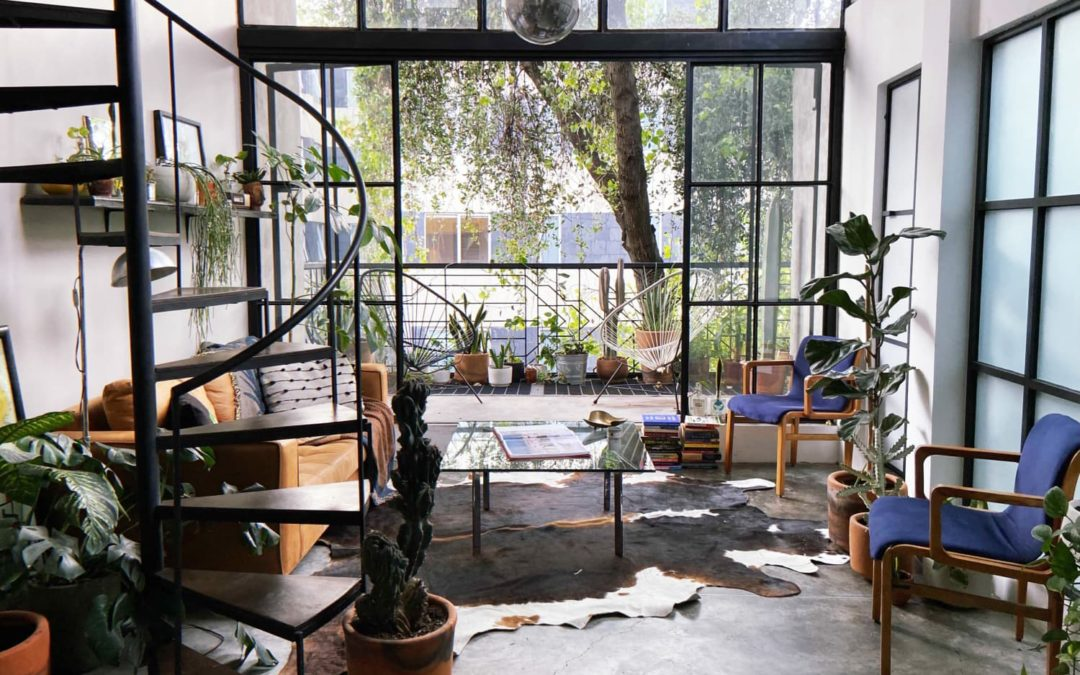A 575-Square-Foot Mexico City Loft Has the Dreamiest Floor-to-Ceiling Glass Wall