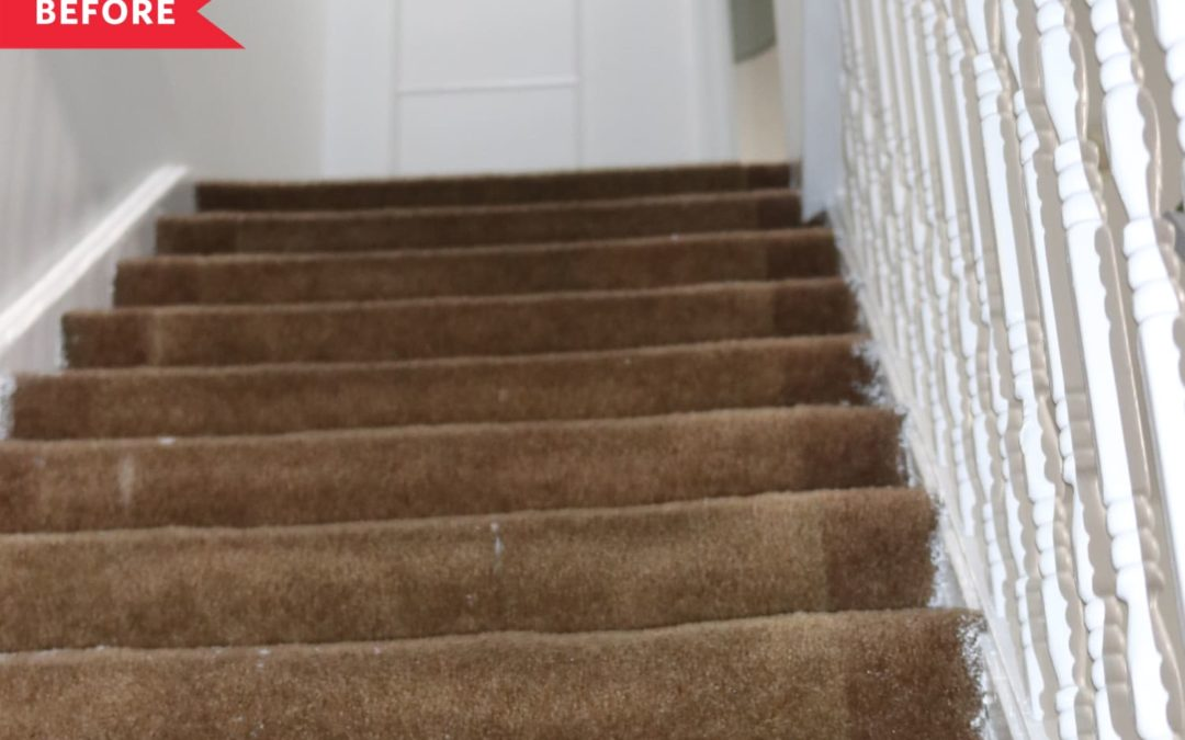 B&A: A $350 Vintage-Meets-Modern DIY Stair Redo Saved This Couple Thousands