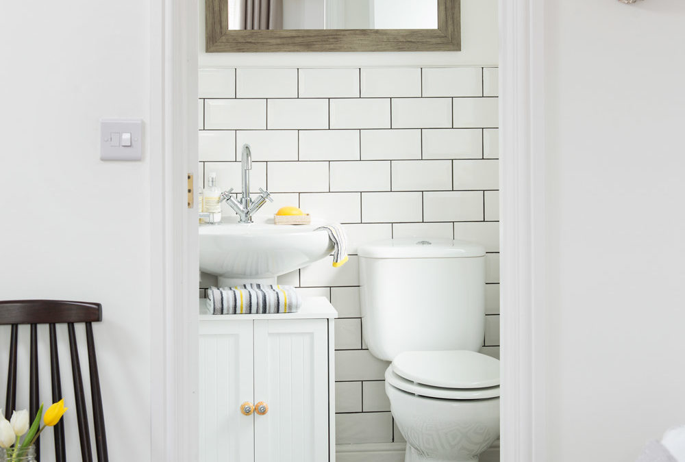 Downstairs toilet ideas to make the most of a small cloakroom space