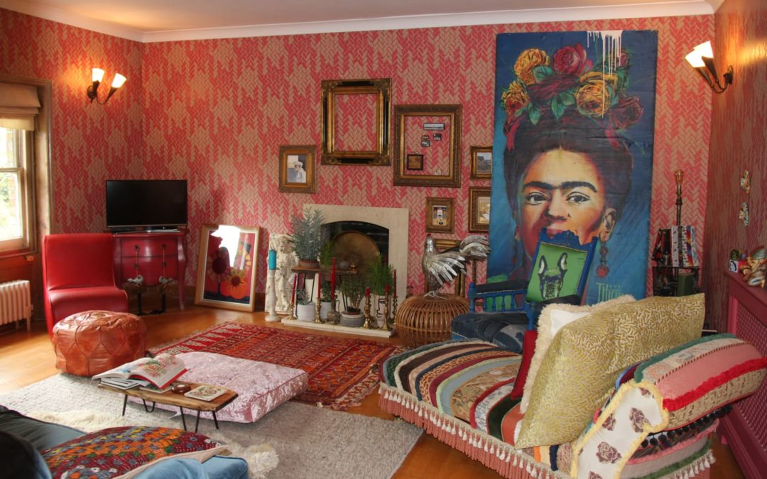 This Artist's Colorful London Home Features Wild Wallpaper Patterns