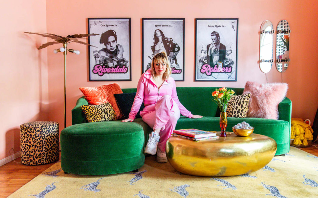 This LA Rental Apartment Has Bold Murals, a Wall of Shoes, and More