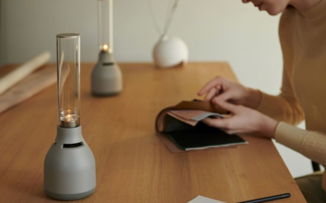 This New Speaker Is Also a Lamp that Flickers Like Candlelight