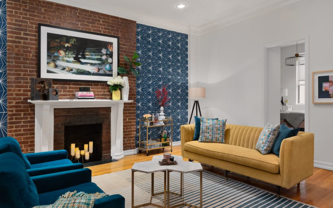 This NYC Brownstone Is Bold Thanks to Renter-Friendly Removable Wallpaper