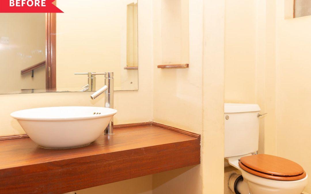 B&A: A Plain White Bathroom's Unrecognizable After a Vibrant, Joy-Filled Redo