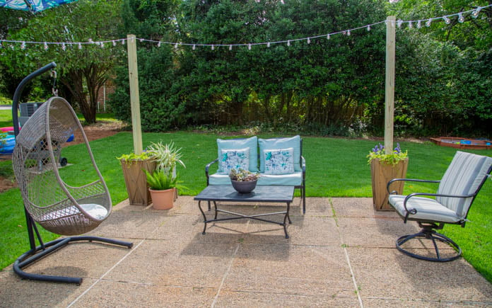 How to Build Planter Posts for String Lights