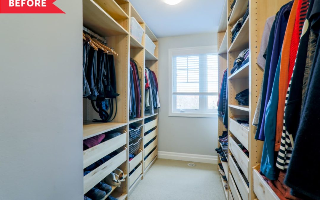 Before & After: A Dark Walk-In Closet Becomes a Dreamy Home Office for $3,000