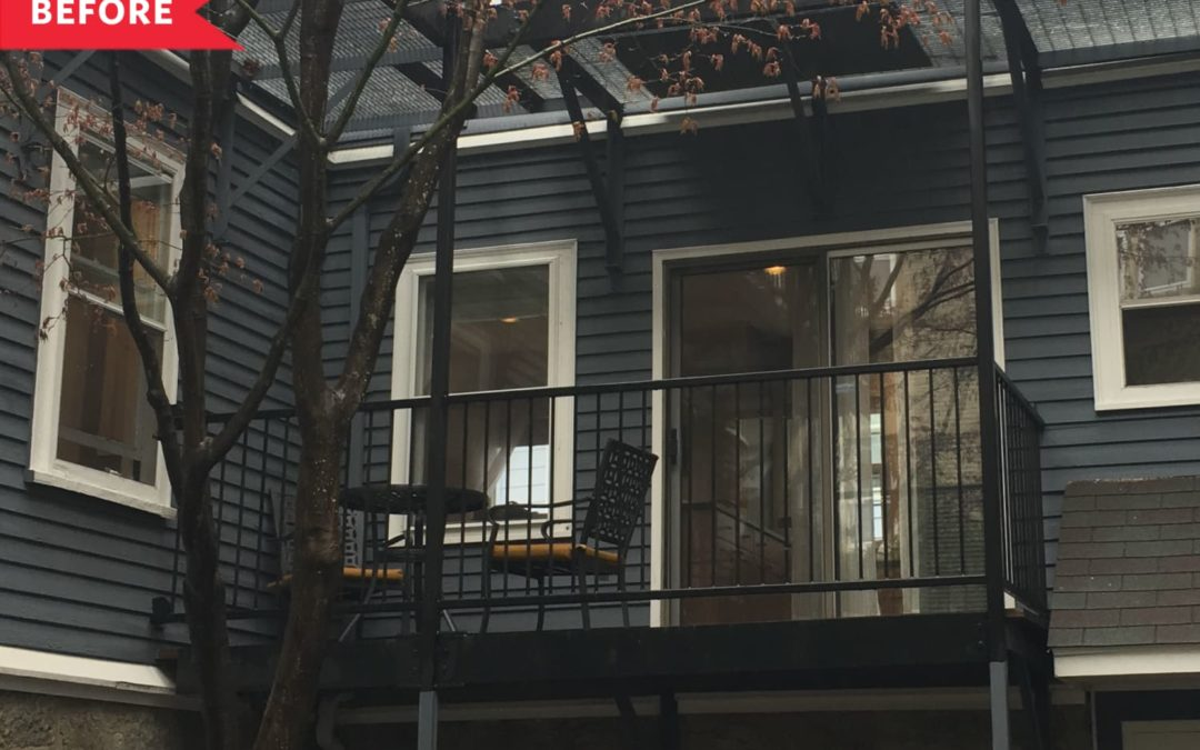 Before & After: A Small, Boring Balcony Becomes a Charming Oasis for $600