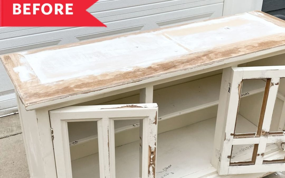 Before & After: An Antique Hutch Becomes Two Brand-New Pieces for $100