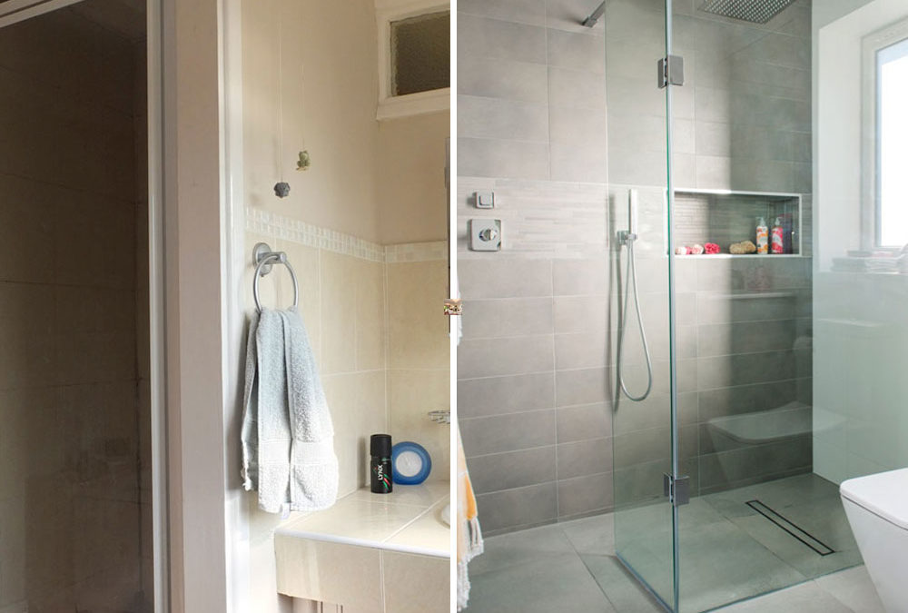 Before and after: from tiny en-suite to supersized shower room