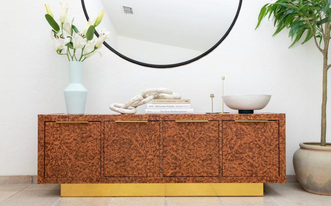 How to Transform a Plain IKEA KALLAX into a Groovy '70s-Style Burl Wood Piece