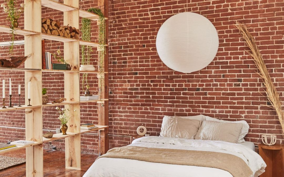 This Loft's Cool 12-Foot High Open Bookshelf Divider Cost Under $500 to Build