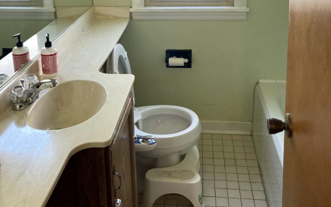 B&A: A Non-Functional Bathroom Gets a Practical Modern-Meets-Vintage Redo