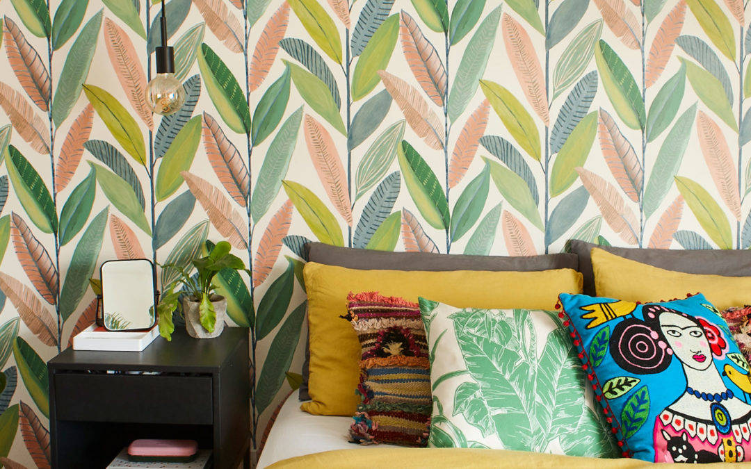First time buyers transform flat with bold colour and oodles of personality
