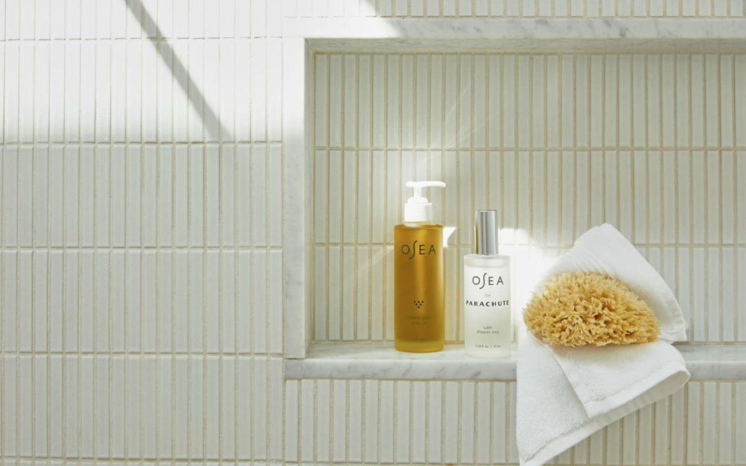 I Tried Parachute x OSEA's New Shower Mists & My Bathroom Has Never Felt So Luxe