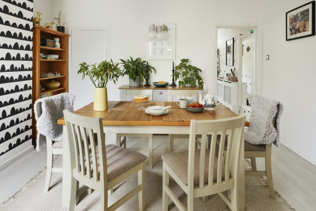 See how this couple brought a period property back to life using a cheerful monochrome palette