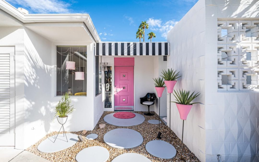 The Quintessential Palm Springs Home Is for Sale — And It Has a Pink Front Door