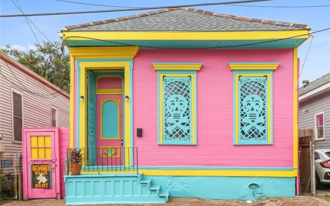 There's a Hot Pink Shotgun House for Sale in New Orleans — With a Lush Backyard