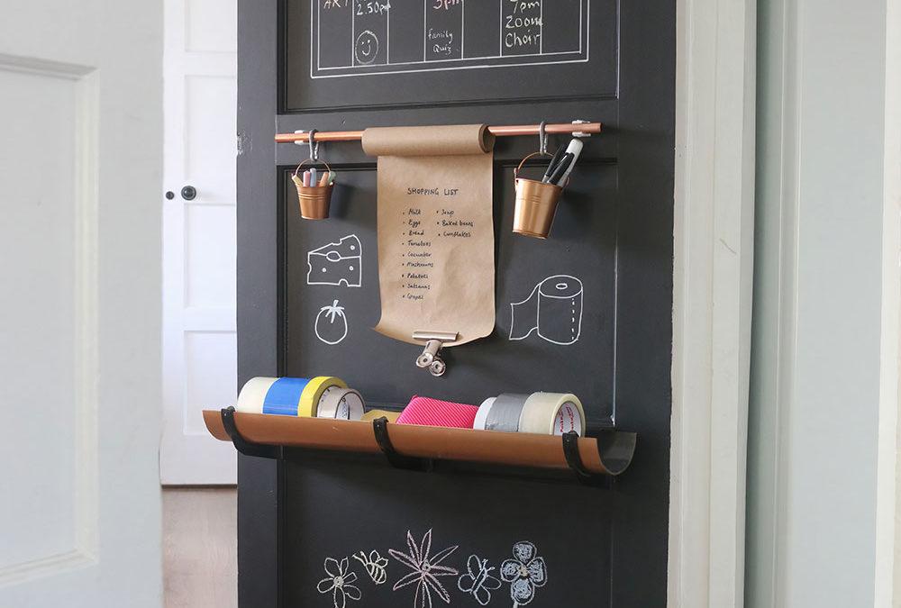 Transform a cupboard door into a DIY family planner